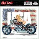 Lethal Threat LT00188 samolepka Miss Ride USA