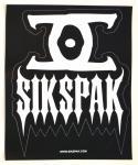 Sikspak VS Vinyl shiv black/white samolepka