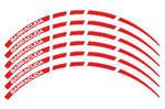 Barracuda proužky na ráfky, červeno-bílé
