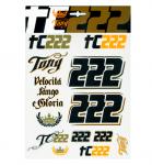 Tony Cairoli TC222 samolepky velké