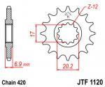 JT Sprockets JTF1120.14