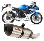 Mivv Power Steel, koncovka Suono nerez, carbon cap - Suzuki GSX 600 R, do 2011