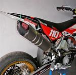 RP výfukový systém Inox, tlumič ovál carbon Inox Racing Style, Husqvarna TC/SM 449 R 11-13
