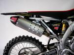 RP výfukový systém Inox, tlumič ovál carbon Inox Racing Style, Suzuki RMZ 250 10-14