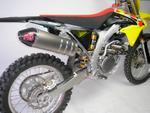 RP výfukový systém Inox, tlumič ovál carbon Inox Racing Style, Suzuki RMZ 450 08-15