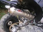 RP výfukový systém Inox, tlumič 90 Inox Racing Style, Yamaha YFM 250/350 R Raptor