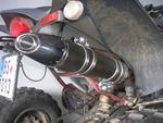 RP výfukový systém Inox + tliumič ovál carbon Inox Racing Style, Yamaha YFM 250/350 R Raptor