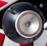 RDmoto PHV1 rámové protektory - Ducati Monster 696 08- stříbrný eloxovaný hliník