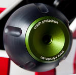 RDmoto PHV1 rámové protektory - Ducati Monster 696 08- zelený eloxovaný hliník