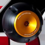 RDmoto PHV1 rámové protektory - Kawasaki ZX-250R Ninja 08- zlatý eloxovaný hliník