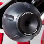 RDmoto PHV1 rámové protektory - Suzuki DL 650 V-STROM -11 černý eloxovaný hliník