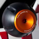 RDmoto PHV1 rámové protektory - Suzuki DL 650 V-STROM -11 oranžový eloxovaný hliník