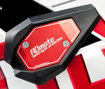 RDmoto SL01 rámové padací slidery - Ducati Monster 696 08- červený eloxovaný hliník