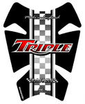 Motografix TT007R Retro Triumph Triple red