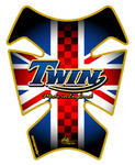 Motografix TT008J Retro Union Jack Twin blue