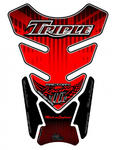 Motografix TT012R Triumph Triple Uninon Jack red