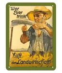 Metal Sign Wer Bier