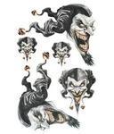 Jester Skull Sticker 30 x 47 cm
