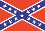 Confederate Flag Sticker 7 x 10 cm