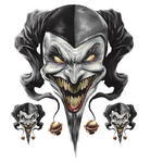 Airbrush Jester Decal, 1ks