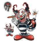 Aufkleber F-Bomb Clown, 1 ks
