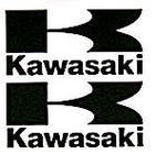 Kawasaki Logo Stickers Large, Pair, Black
