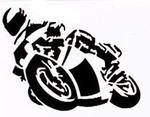Mini Motorcycle Sticker Black, 8 x 6 cm