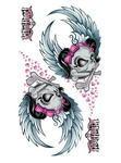 Sticker Flying Girl Skull