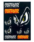 Streetfighter Stickers, Set of 9