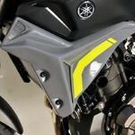 Ermax kryty chladiče Yamaha MT-07 2014-2015, 2016 gris/jaune fluo(night fluo)