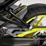 Ermax zadní blatník s krytem řetězu Yamaha MT-07 2014-2015, 2016 gris/jaune fluo(night fluo)