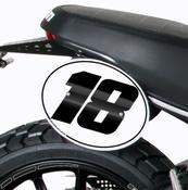 Barracuda boční číslové tabulky - Ducati Scrambler 2015