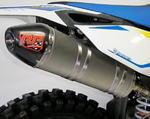 RP koncovka ovál carbon/nerez mat - Husqvarna FC 350 2014-2015