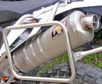 RP koncovka ovál nerez mat - KTM 690 Enduro R 2014-2015
