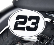 Barracuda boční číslové tabulky - Moto Guzzi V7 II/V7 III 2015-2019