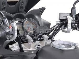 SW-Motech Odpružený držák GPS pro řídítka 28mm stříbrný - 1