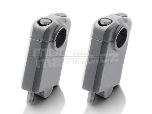 SW-Motech zvýšení řídítek průměr 22mm + 50mm stříbrné