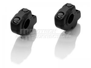 SW-Motech úprava pozice řidítek průměr 22mm, 31mm nahoru, 22mm dozadu černé - 1