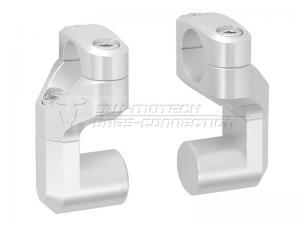 SW-Motech Vario zvýšení řidítek stříbrné - 1