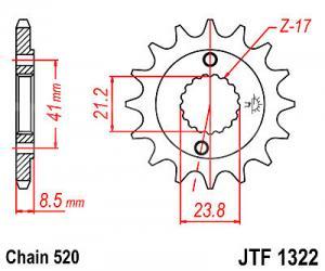 JT Sprockets JTF1322.15
