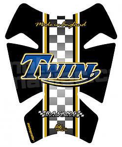 Motografix TT007B Retro Triumph Twin blue