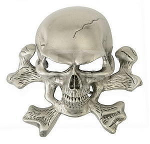Belt Buckle Skull 10 x 9,5 cm - 1