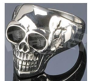 Finger Ring Skull, Stainless,Silver