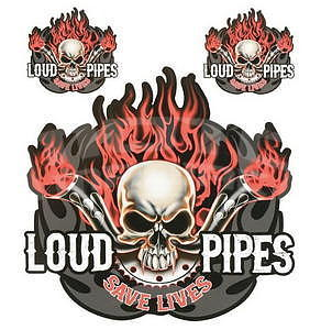 Loud Pipes Sticker Saves Lives, 1ks