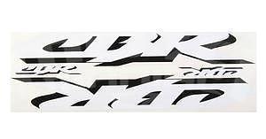 CBR Logo Stickers, Set of 4 White/Black