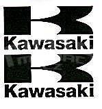 Kawasaki Logo Stickers Large, Pair, Black