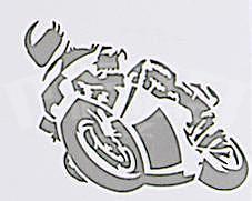Motorcycle Sticker Silver, 16 x 12 cm - 1