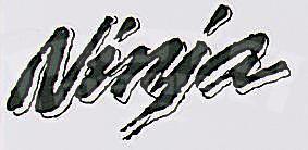 Ninja Sticker Black