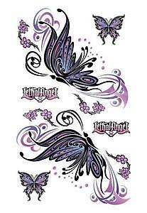 Sticker Flying Butterfly