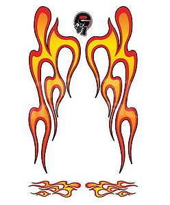Sticker Hot Rod Flames